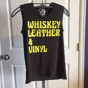 Tops - Whiskey, Leather and Vinyl sleeveless T